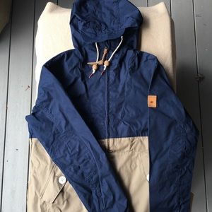 Penfield Gibson tan and navy 3-season parka (M)